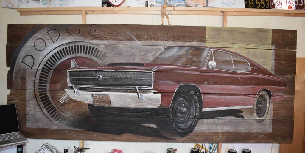 Acryl on wood